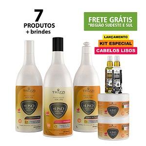 Kit Nature Master Argan +Liso 1L - Shampoo - Condicionador - Creme de Pentear - Máscara 300g - Óleo de Argan 60ml - Sérun Reparador 60ml