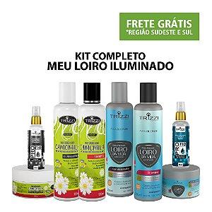 Kit Completo Meu Loiro Iluminado - Kit Loiro da Vida Matização - Kit Radiant Camomila - Reparador de Pontas 60ml - Sérun Reparador 60ml