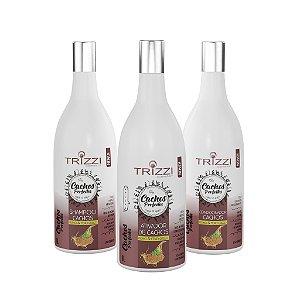 DUPLICADO - Kit Coco Trizzi Cosmetics - Ativador de Cachos Coco 1L - 2em1 Óleo de Coco & Mix de Vitaminas 1kg - Óleo de Coco 60ml