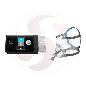CPAP S10 AUTO AIR SENSE + MÁSCARA FACIAL  QUATTRO AIR - ResMed - Tamanho M.