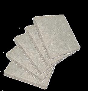 Feltro adesivo quadrado 2.3 x 2.1cm