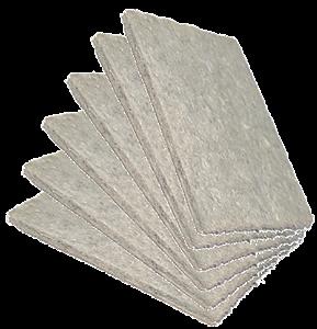 Feltro adesivo quadrado 3 x 5cm