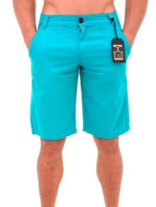 Bermuda de Sarja Masculina Azul Claro