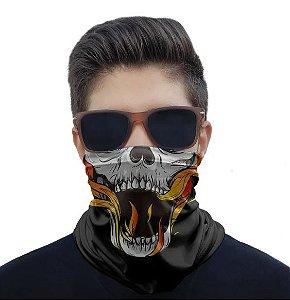 Máscara Caveira Fogo