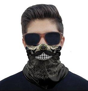 Máscara Caveira Barba