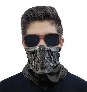 Máscara Bandana Caveira Metal