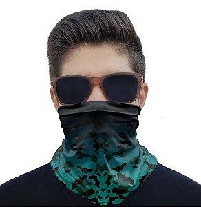 Máscara Bandana Camuflado Degrade Azul