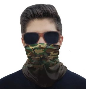 Máscara Bandana Camuflado Degrade Verde