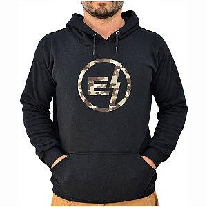 Moletom Preto Logo Camuflado EFECT