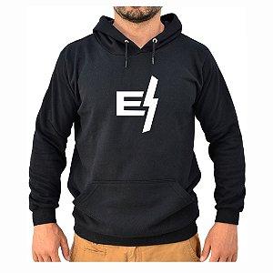 Moletom Preto Logo Minimal EFECT