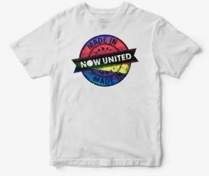 Camisa Infantil Now United Camiseta Manga Curta