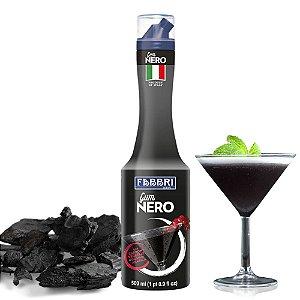 Xarope Goma Arábica Gum Nero Fabbri Carvão Vegetal 500 ml Black Drink Bar Bartender Coquetel