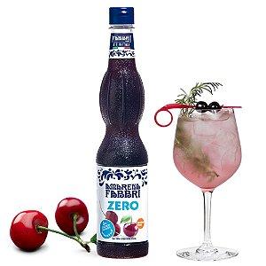 Xarope Para Soda Italiana Fabbri Amarena ZERO Açúcar 560 ml Drink Gin Bartender Barman Café Coquetel
