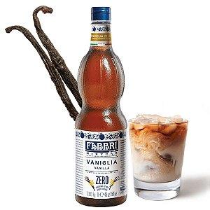 Xarope Para Soda Italiana e Drink com Café Fabbri Baunilha Zero Açúcar 1 Litro Barista Iced Coffee