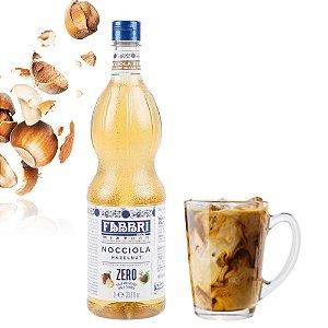 Xarope Para Soda Italiana e Drinks de Café Fabbri Avelã Zero Açúcar 1 Litro Barista Coquetel Barman