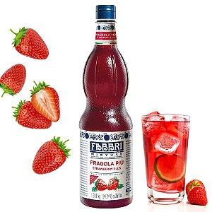 Xarope Para Soda Italiana Fabbri Morango 1 Litro Drink Gin Bartender Barman Coquetel