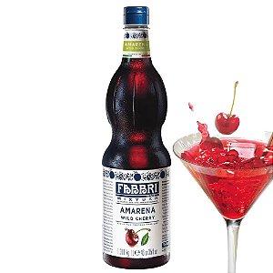 Xarope Soda Italiana Mixybar Fabbri Amarena Cereja Silvetre 1 Litro Italiano Coquetel Drink Gin