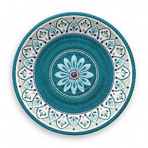 Prato de Jantar em Melamina - Ø 27 cm - Linha Marrocos