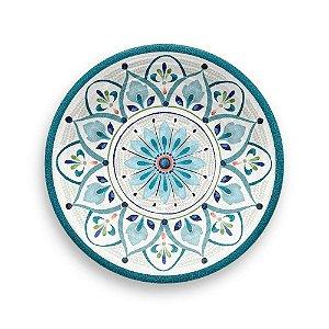 Prato de Sobremesa em Melamina - Ø 22 cm - Linha Marrocos