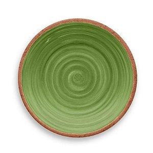 Prato de Jantar em Melamina - Ø 27 cm - Linha Rústico - Verde