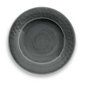 Prato de Sobremesa em Melamina - Ø 22 cm - Linha Craquelado - Cinza
