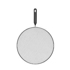 Tela Protetora Aço Inox Para Fritura 29 Cm Anti Respingo Cozinha limpa Reduz Fumaça