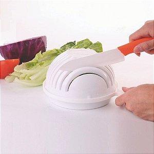 Bowl para Cortar Saladas Legumes e Frutas - Plástico