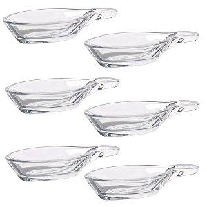 Conjunto Com 6 Colheres Vidro Pasabahçe Porção Individual 12 x 6cm Gastroboutique