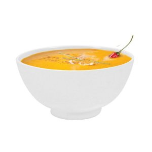 Mini Bowl Tigela em Melamina 320 Ml Molheira 11,5 x 6 cm Plaza Branco