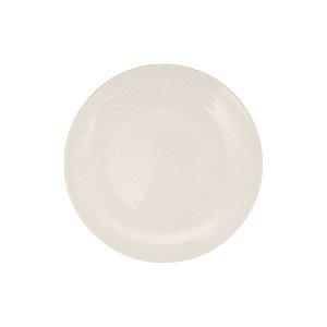 Prato Sobremesa em Melamina Plaza 20 cm Branco