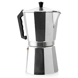 Cafeteira Italiana em Alumínio 6 Cafezinhos Ke Home Dispensa Uso Filtro Papel Chá ou Café