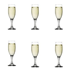 Conjunto 06 Taça Champagne Misket 190ml Vidro Lav Requinte Mesa