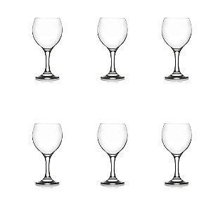 Conjunto 06 Taça Vinho Misket 260 ML Vidro LAV Requinte Mesa