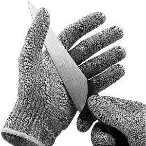 Par Luva Proteção Anti-corte Profissional Resistente Segurança Cozinha