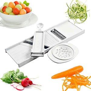 Conjunto 4 Em 1 Descascador Boleador Mandoline Cortador Legumes Cozinha Pratica Indispensável