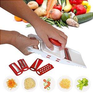 Multi Cortador 5 Em 1 Fatiador Mandolin Ralador Legumes INDISPENSÁVEL Cozinha prática