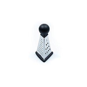Ralador Triangular Inox  16 Cm Preto Funcionalidade Qualidade Inovador Cozinha