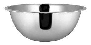 Tigela Bowl 20 Cm Em Aço Inox Prata Cozinha Completa Funcional