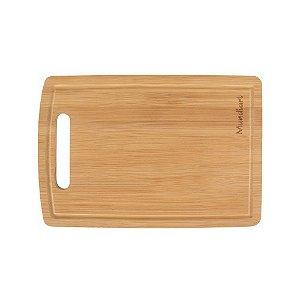 Tábua Corte Carne Churrasco Bambu 33x24cm Rústica Cozinha Funcional Sustentável Mundiart