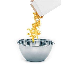 Tigela Bowl Aço Inox 14cm Fundo Multiuso Profissional Cozinha Completa Chef Gourmet KeHome