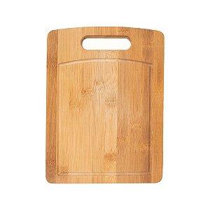 Tábua de Corte em Bambu Retangular 40 x 29cm Rústica Churrasco Frios Cozinha Servir