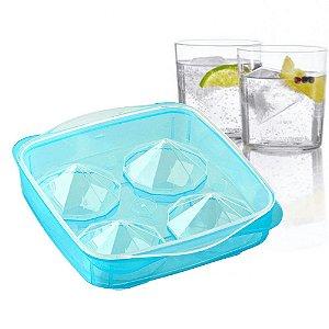 Forma de Gelo no Formato Diamante Molde de Plástico Fackelmann Drinks Coquetel Mixologia Molecular