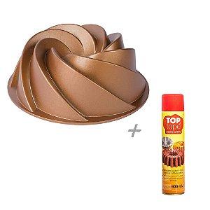 Kit Forma de Bolo Vulcão Marissa Lounina e Desmoldante Spray Antiaderente Para Untar