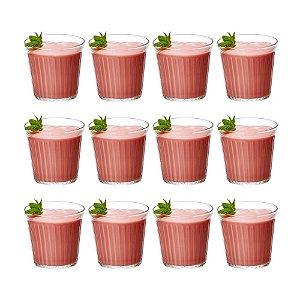 Conjunto 12 Ramequim em Vidro Borossilicato Canelado 130 ml Servir Sobremesa Finger Food Cozinha