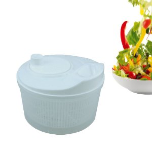 Secador de Salada Centrifuga Seca Folhas Fackelmann 4 Litros à Manivela Branco Utensilio Cozinha