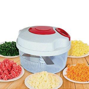 Cortador Triturador Processador Manual Fatiador Legumes Alho 3 Laminas Corda Utensilio Cozinha