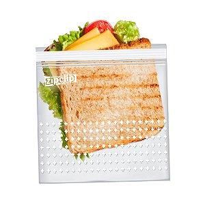 Kit 30 Saco Plastico Para Freezer Hermetico Saquinho Zip Clip 16,5 X 15cm Marinar Embalagem Cozinha