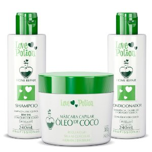 KIT HOME CARE ÓLEO DE COCO + MÁSCARA DE COCO 250G - LOVE POTION