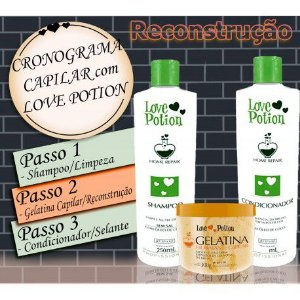 Kit Home Repair com Gelatina Capilar