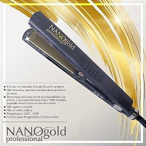 PRANCHA NANO GOLD -  232 C/ 450 F - BIVOLTS